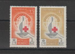 Nouvelles-Hébrides Légende Française 1963 Centenaire Croix Rouge 199-200 ** 2 Val. MNH - Franse Legende