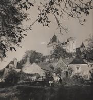 Montfort (Dordogne) - Le Château De Montfort. Photographie En Noir Et Blanc. Photographie De 23,8 Cm X 24 Cm - Lieux