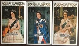 Cook Islands 1986 Queen's Birthday Minisheets MNH - Islas Cook