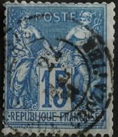 -Sage N°90 Type Ll O (.CAD)  PARIS  RUE  CROZATIER 22 MAI 1891. - 1876-1898 Sage (Type II)