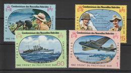 Nouvelles-Hébrides Légende Française 1967 25ème Anniversaire Batailles Du Pacifique 257-260 ** 4 Val. MNH - Ungebraucht