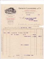 33-E.Lasserre..Importateur-Exportateur..Bordeaux (Gironde) 1913 - Petits Métiers