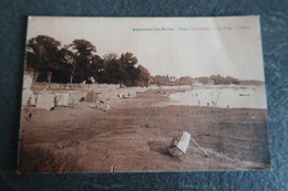 CPA Animée - ANDERNOS Les BAINS (33) - Bassin D'Arcachon - La Plage à L'église - Andernos-les-Bains