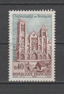"""FRANCE / 1965 / Y&T N° 1453 : """"Touristique"""" (Cathédrale De Bourges - Cher) - Choisi - Cachet Rond - France"""