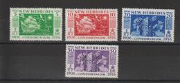 Nouvelle Hébrides Légende Anglaise 1956 Cinquantenaire 171-174 4 Val ** MNH - English Legend
