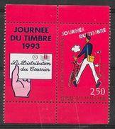 TIMBRE N° 2793  - FRANCE  - NEUF  -   AVEC VIGNETTE PROVENANT DE CARNET - JOURNEE DU TIMBRE - 1993 - Ungebraucht