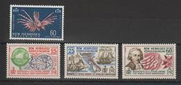 Nouvelles-Hébrides Légende Anglaise 1967-68 Série Courante Et Bougainville 266 Et 270-272 ** 4 Val. MNH - Neufs