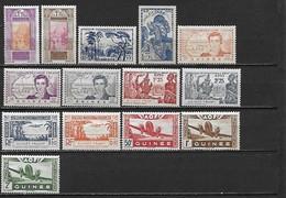 GUINEE 1922 - 1939 - Poste Et Poste Aérienne 14 Timbres **  Cote : 14 Euros - Guinée Française (1892-1944)