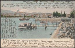 Vue Générale Débarcadère, Genève, 1905 - Lips CPA GLM90 - GE Geneva