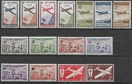 LA REUNION 1938-1944 Poste Aérienne - 15 Tbs Dont 2 Séries **  YT AE 2 à 5, 10 à 12 18 à 23 + 29 Et 30  - Cote YT 10 Eu - Réunion (1852-1975)