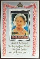 Cook Islands 1990 Queen Mother Minisheet MNH - Islas Cook