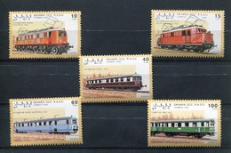 SAHARA -  RAILWAY LOCOMOTIVES / TRAINS - 5V - 1992  MINT - Africa (Other)