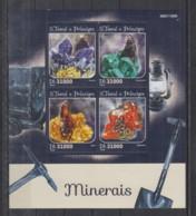 C713. S.Tome E Principe MNH - 2016 - Nature - Minerals - Planten