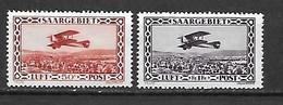 SARRE - Poste Aérienne 1928 - YT AE 1 Et 2 ** (MNH) - Cote YT : 31 Euros - Neufs