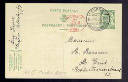 CP 112 II + 5c B001 Eupen Touristique 2-10-39 Vers Gent - Cartes Postales [1934-51]