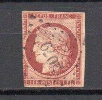 - FRANCE N° 6 Oblitéré Losange PC 2079 - 1 F. Carmin Type Cérès 1849  - Cote 1000 EUR - - 1849-1850 Cérès