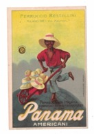 CARTOLINA PUBBLICITARIA RESTELLI MILANO Importatore Cappelli Panama - Au Bon Marché