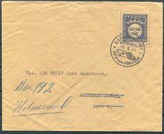 1941 Sweden Svarsmarke Faltpost Cover. Bildpostkontoret Folk Och Forsvar Goteborg - Military