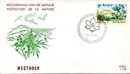 BELGIQUE. N°1409 De 1967 Sur Enveloppe 1er Jour. Protection De La Nature. - Milieubescherming & Klimaat