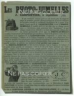 EASTMAN CARPENTIER Photo-jumelles Publicités Journal La Nature 1894 - Appareils Photo