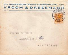20 VIII 1927 Firmalogo Op Envelop Van Nijmegen Naar Amsterdam - Periode 1891-1948 (Wilhelmina)