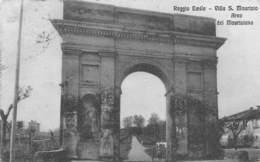 """M08816 """"REGGIO EMILIA-VILLA S. MAURIZIO-ARCO DEL MAURIZIANO"""" CART. ILLUSTRATA ORIG. SPED.1918 - Reggio Emilia"""