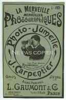 CARPENTIER Photo-jumelles GAUMONT Publicités Journal La Nature 1897 - Appareils Photo