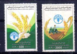 1990 , Dec. 4; Plowing Season In Libya; Scott-Nr. 1379 + 1380;  Used; Lot 52168 - Libyen