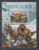 O713. Mozambique - MNH - 2016 - Fauna - Animals - Prehistoric - Dinosaurs - Bl - Plants
