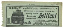 BELLIENI Jumelles Télé-objectif Goerz Publicités Journal La Nature 1902 - Appareils Photo