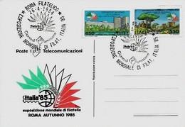 Italia 1985 Esposizione Mondiale Di Filatelia - Esposizioni Filateliche