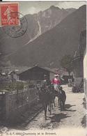 74 CHAMONIX MONT BLANC MULETIER CARTE COLORISEE EDITEUR FRANCO SUISSE BF 1863 - Chamonix-Mont-Blanc