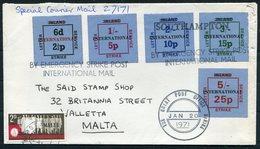 1971 Malta GB Southampton Postal Strike Special Courier Cover. - Malta