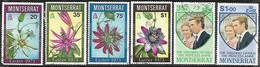 Montserrat   1973   Sc#288-91  Flowers Set , #300-1 Royals Set  Used  2016 Scott Value $5.40 - Montserrat
