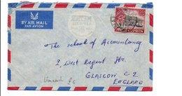 CHYPRE GB LETTRE POUR L'ECOSSE 1956 - Chipre (...-1960)