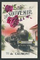Eure, Ariège, Gers, Vaucluse, Tarn Et Garonne. Souvenir De Caumont , Le Train Entre En Gare - France