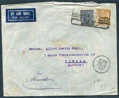 1937 India Airmail Cover Karachi - Vienna Austria Via Athens - India (...-1947)