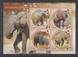 T319. Sierra Leone - MNH - 2016 - Fauna - Wild Animals - Elephants - Other