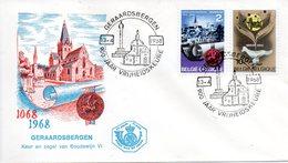 BELGIQUE. N°1448 De 1968 Sur Enveloppe 1er Jour. Sceau De Baudouin VI. - Buste