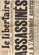 Le Libertaire 08.1927 - Journal Anarchiste - Exécution Sacco - Manifestation Anti-USA - Journaux - Quotidiens
