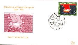 BELGIQUE. N°2168 De 1985 Sur Enveloppe 1er Jour. Drapeau Rouge. - Briefe
