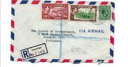 JAMAÏQUE GB AFFRANCHISSEMENT COMPOSE SUR LETTRE POUR L'ECOSSE 1946 - Jamaica (...-1961)