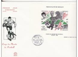 FDC BF Monaco Grand Format Coupe Du Monde De Football 1990. Italie Italia. - Copa Mundial