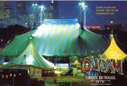 Die Cut City View Melbourne Australia With Cirque Du Soleil Postcard Circus Tent - 12436 - Circus