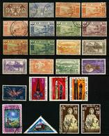 NOUVELLES HEBRIDES - LOT DE 24 TIMBRES OBLITERES TOUS DIFFERENTS - Collections, Lots & Series