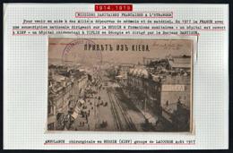 FRANCE, Croix Rouge (Guerre 1914/18) Mission Sanitaire En Russie. RARE Carte écrite Par Un Membre De Cette Mission...... - Croix Rouge