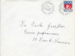 MAYENNE 53   -  MONTAUDIN  -  POSTE AUTOMOBILE RURALE C.P. N° 1   G8.  -  1965-    BELLE FRAPPE - - Postmark Collection (Covers)