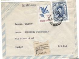 COVER CORREO AEREA - ARGENTINA - BUENOS AIRES - ROMA - ITALIA - CERTIFICADA. - Argentina
