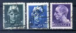 1945 LUOGOTENENZA SET USATO 526/528 Senza Filig. - 1944-46 Lieutenance & Humbert II