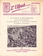 Magazine Tijdschrift - Prisonniers Politique - L'Effort - 1955 - Oorlog 1939-45